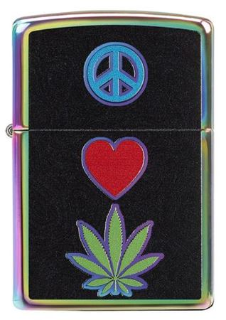 Peace, Love, Leaf Design