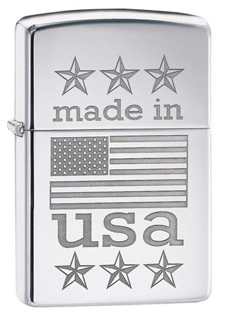 Made in USA with Flag