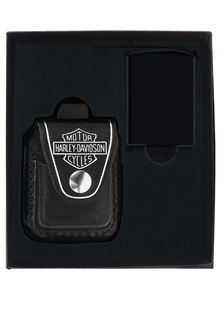 Harley Davidson® Lighter Pouch Gift Set
