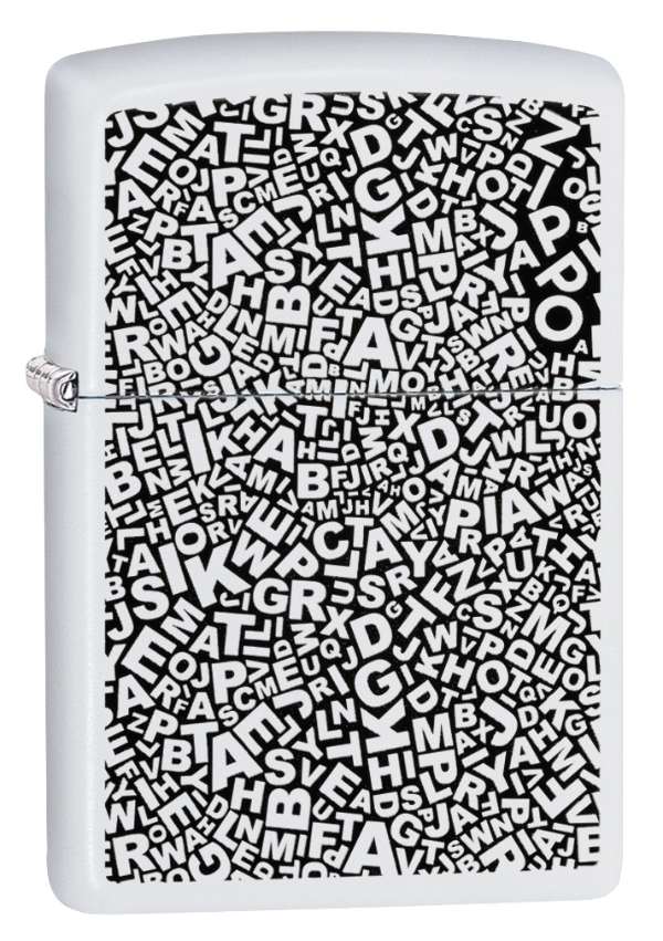 Zippo Scattered Letters